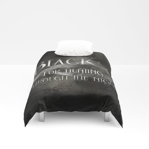 Pleasant Black For Hunting Through The Night Shadowhunter Childrens Rhyme Quote Duvet Cover Gmtry Best Dining Table And Chair Ideas Images Gmtryco