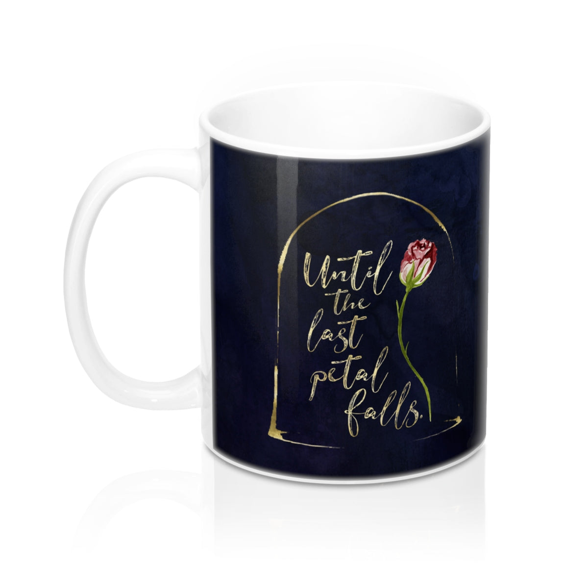 Until the last petal falls. Beauty and the Beast Mug - LitLifeCo.