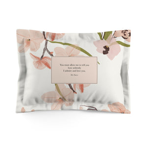 You must allow me... Mr. Darcy Quote Pillow Sham - LitLifeCo.