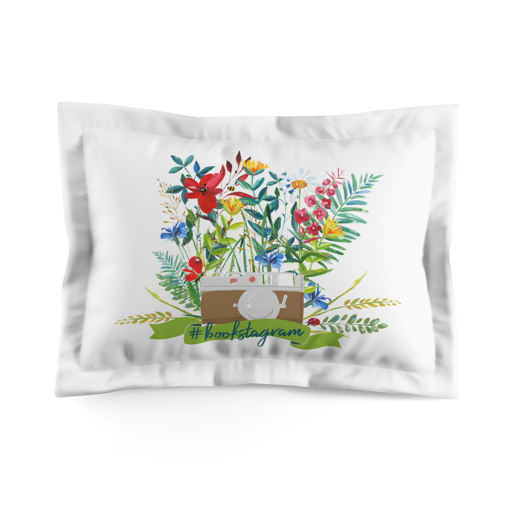 #bookstagram Floral Pillow Sham - LitLifeCo.