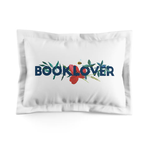 BOOKLOVER Floral Pillow Sham - LitLifeCo.