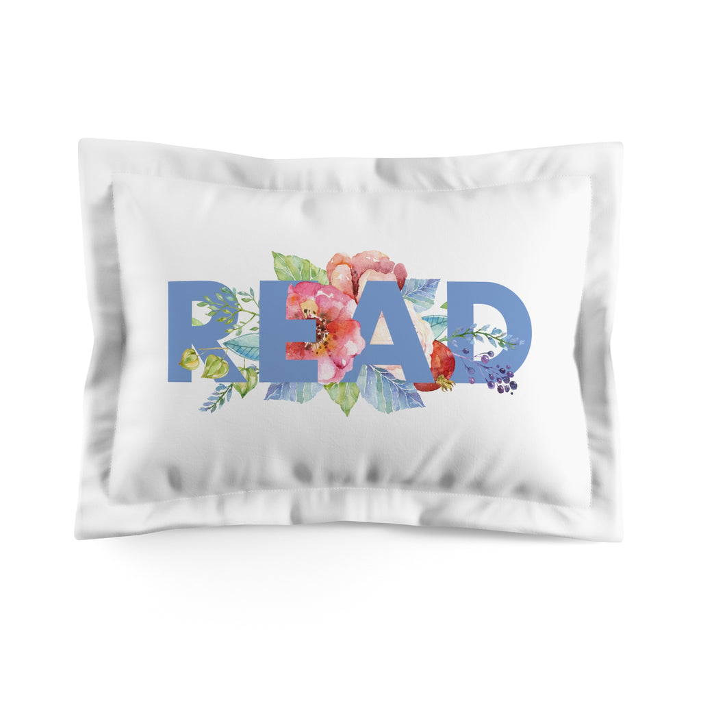 READ Floral Pillow Sham - LitLifeCo.
