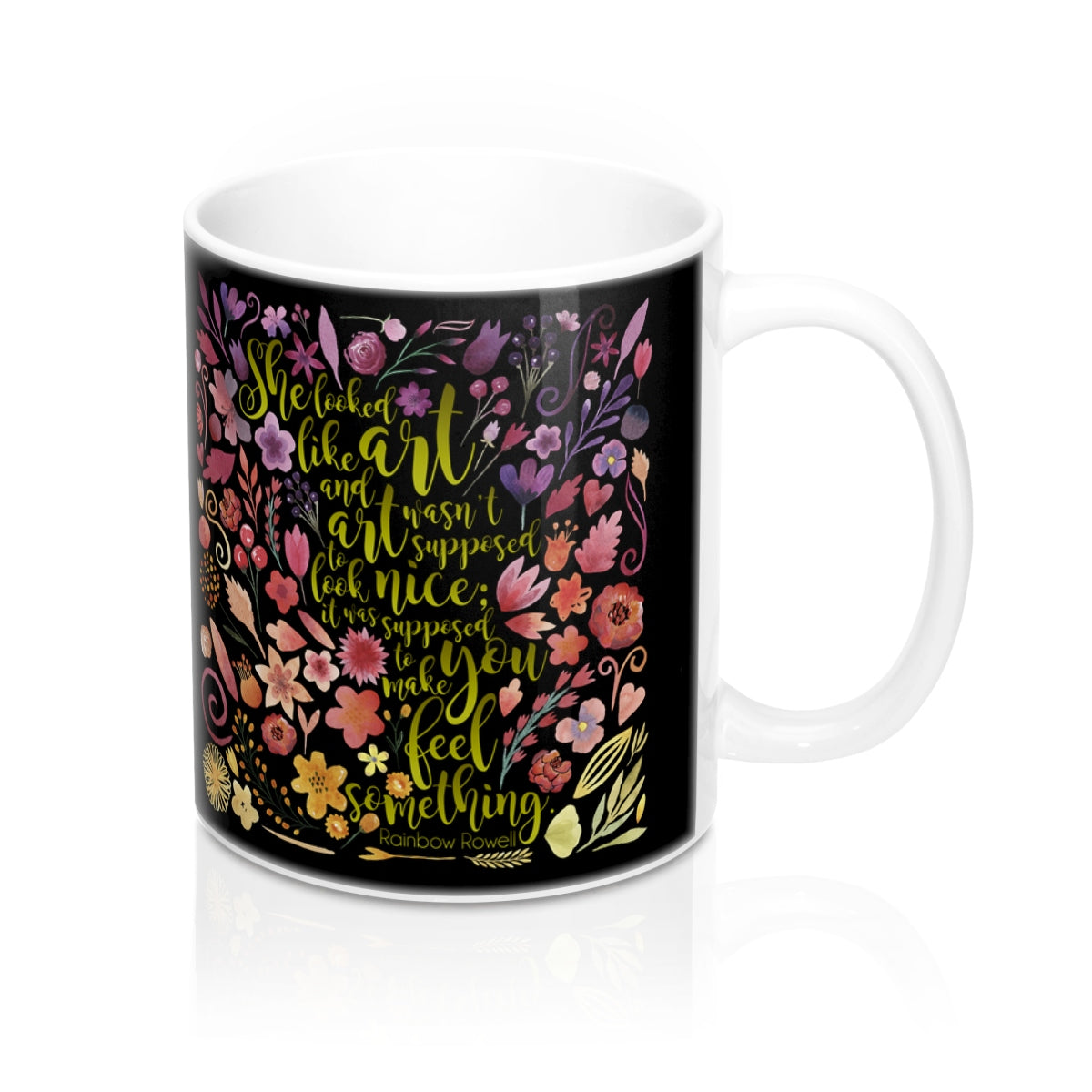She looked like art... Eleanor and Park Quote Mug - LitLifeCo.