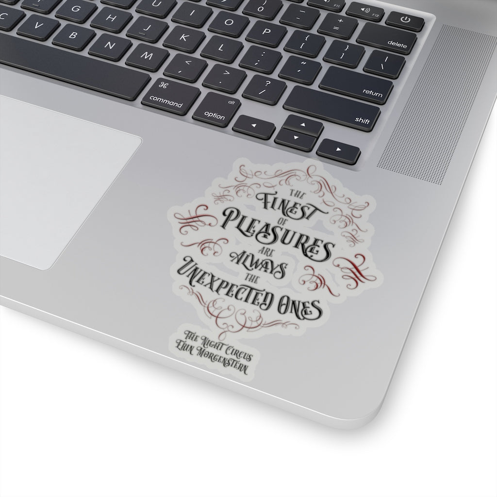 The finest of pleasures... The Night Circus Quote Sticker - LitLifeCo.