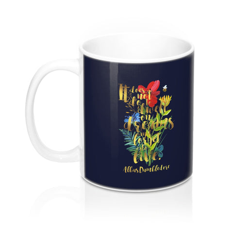 It does not do to dwell on dreams... Albus Dumbledore Quote Mug - LitLifeCo.
