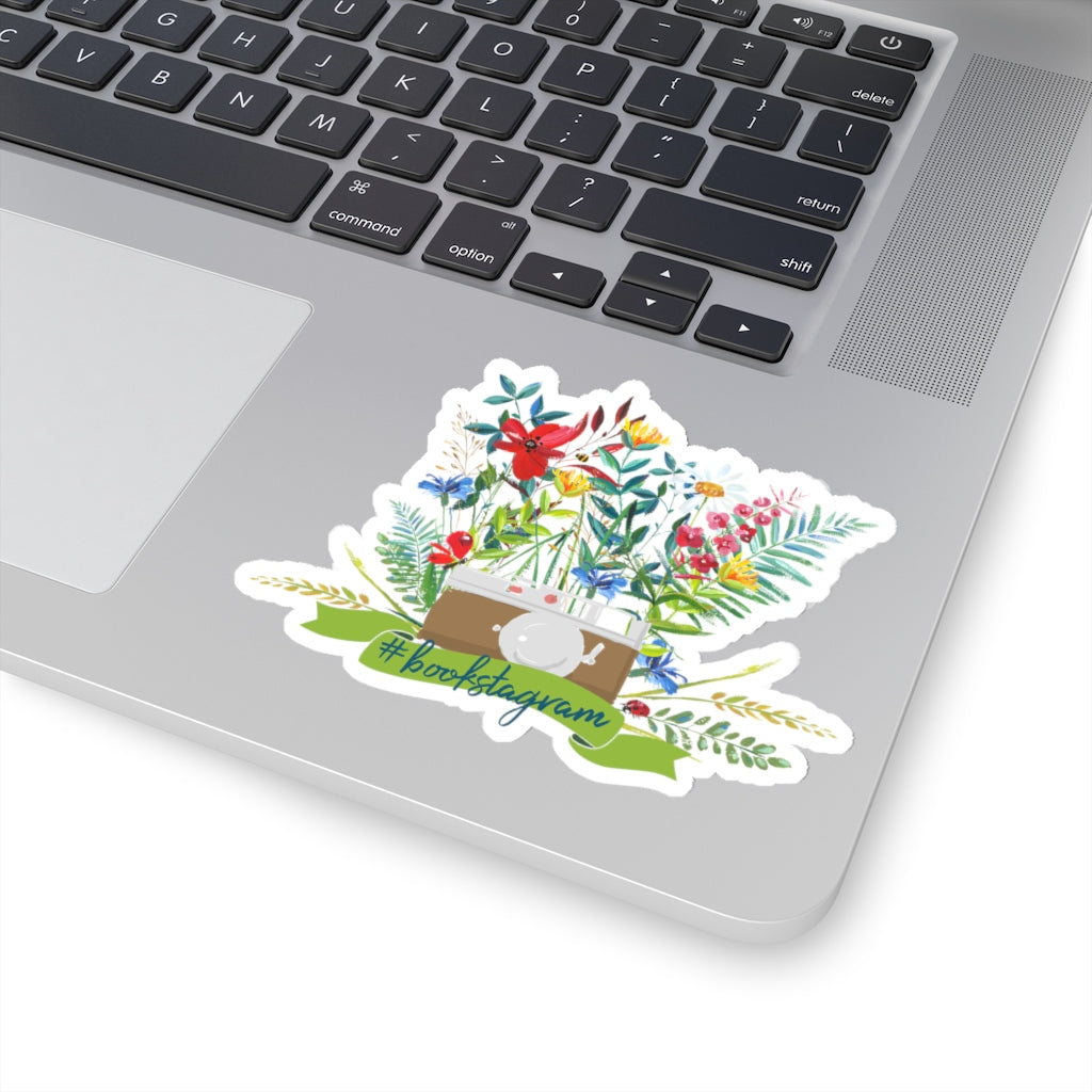 #bookstagram Floral Sticker - LitLifeCo.