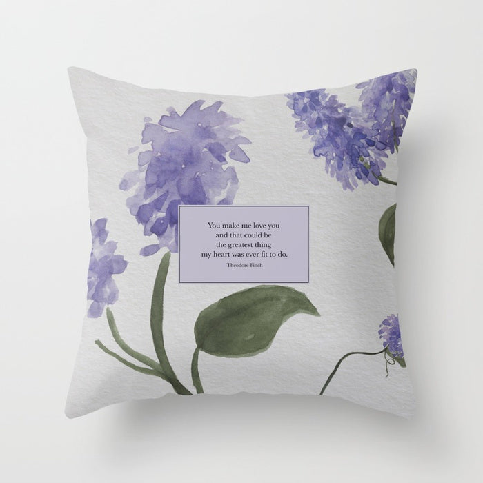 You make me love you... Theodore Finch Pillow - Literary Lifestyle Company