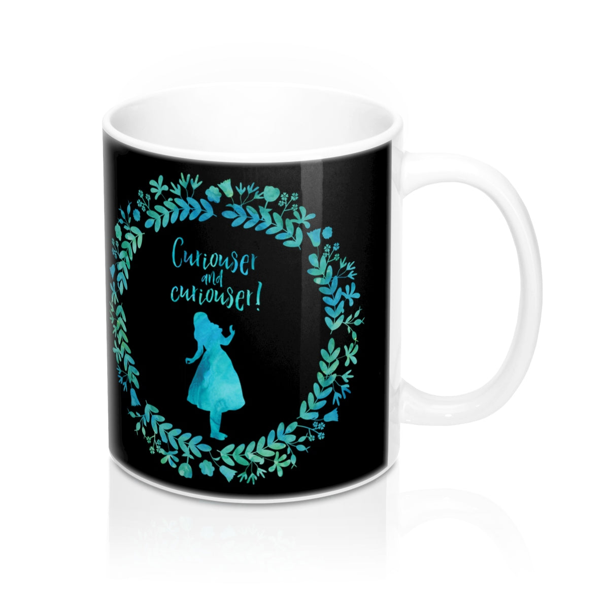 Curiouser and curiouser! Alice in Wonderland Mug - LitLifeCo.