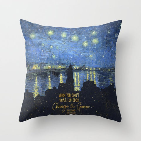 When you can't beat the odds... Six of Crows Quote Pillow