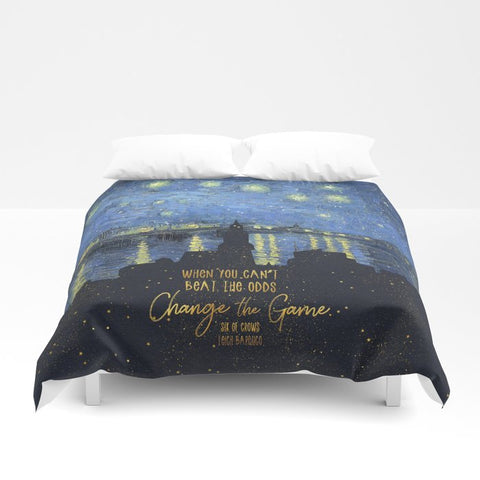 When you can't beat the odds... Six of Crows Quote Duvet Cover - LitLifeCo.