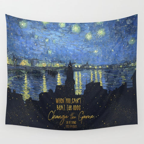When you can't beat the odds... Six of Crows Quote Wall Tapestry - LitLifeCo.