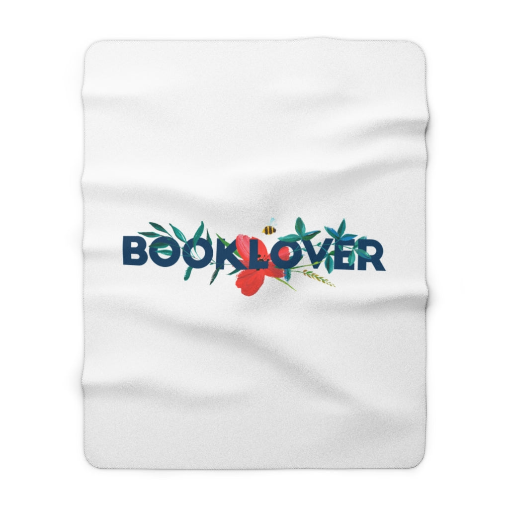 BOOKLOVER Floral Throw Blanket