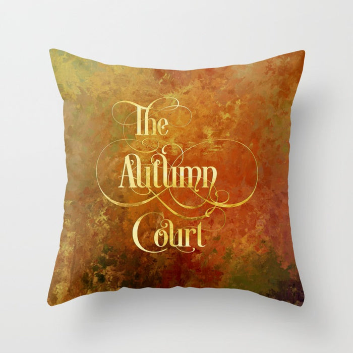 The Autumn Court Pillow - LitLifeCo.