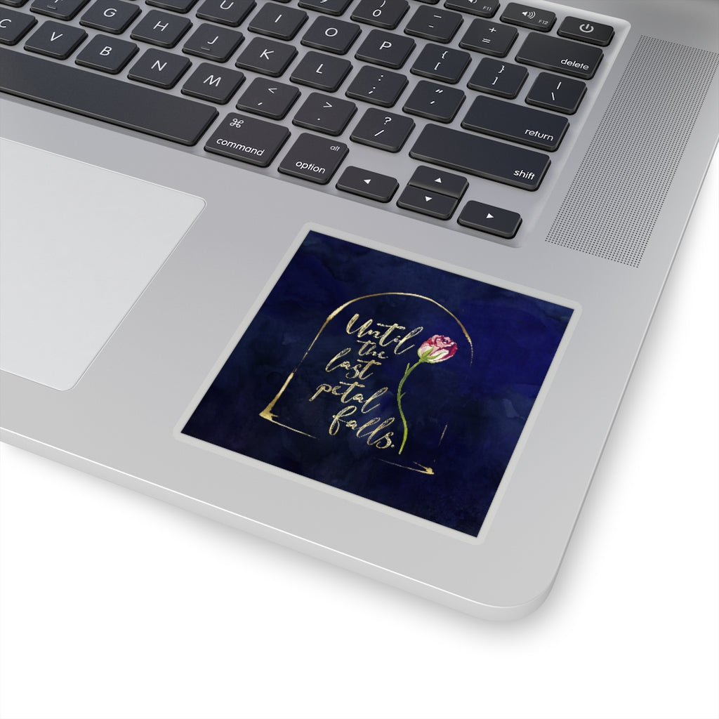 Until the last petal falls. Beauty and the Beast Sticker - LitLifeCo.