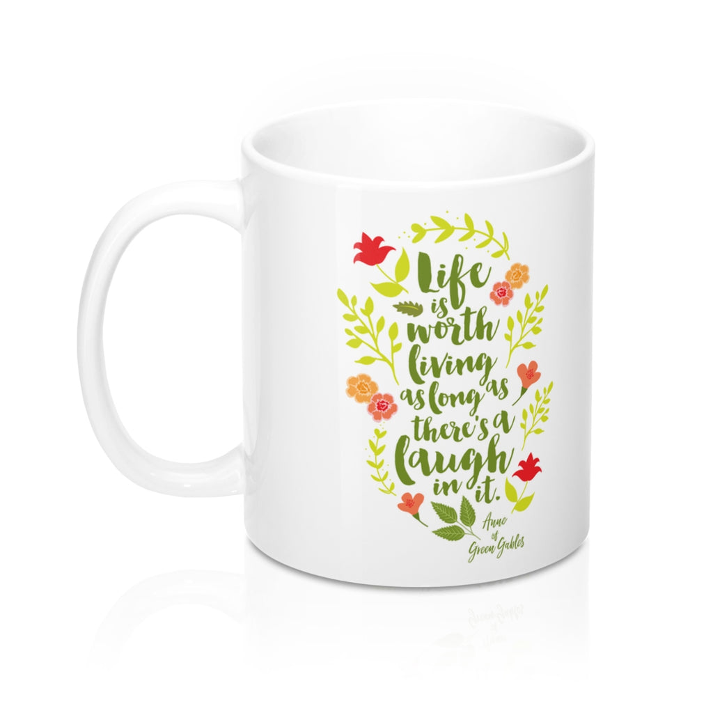 Life is worth living... Anne of Green Gables Quote Mug - LitLifeCo.