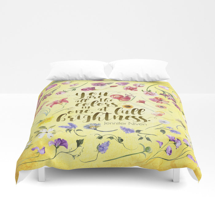 You are all the colors in one... All The Bright Places Quote Duvet Cover - LitLifeCo.