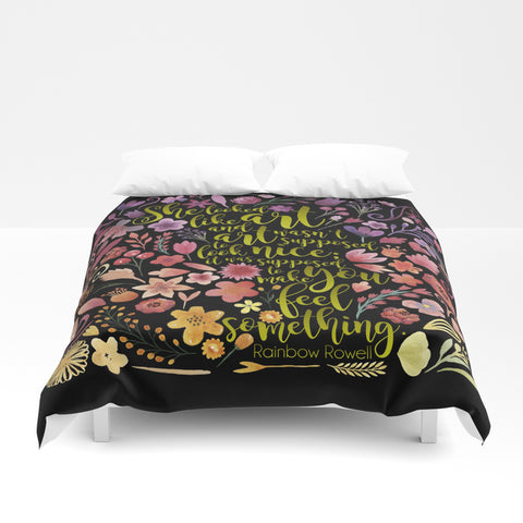 She looked like art... Eleanor and Park Quote Duvet Cover