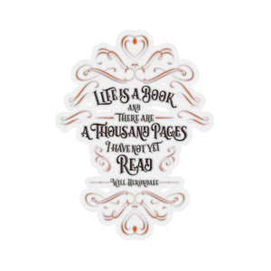 Life is a book... Will Herondale Quote Sticker - LitLifeCo.