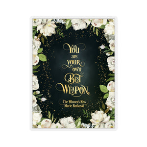 You are your own... A Winner's Kiss Quote Sticker - LitLifeCo.