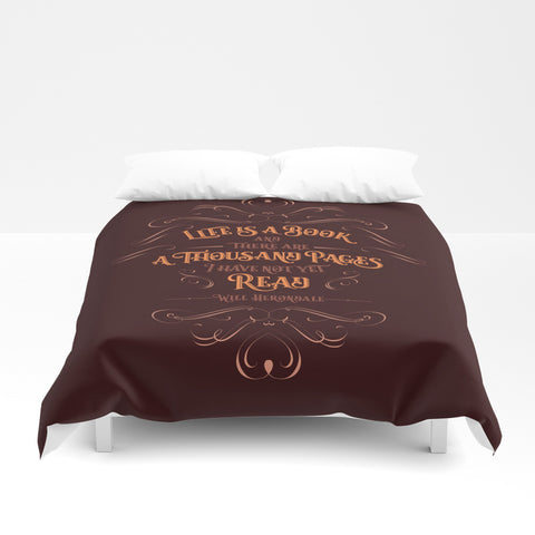 Life is a book... Will Herondale Quote Duvet Cover