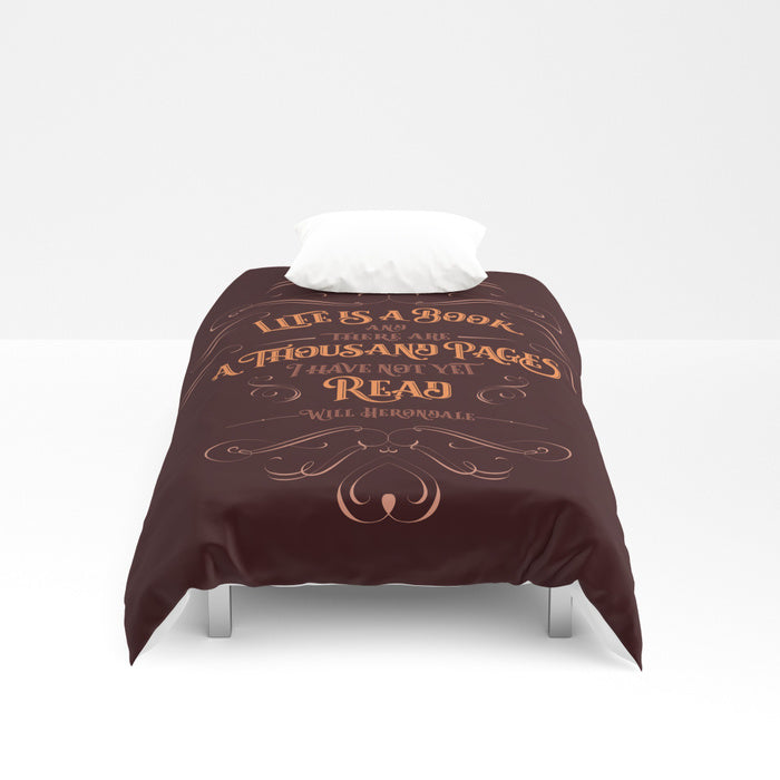 Life is a book... Will Herondale Quote Duvet Cover - LitLifeCo.