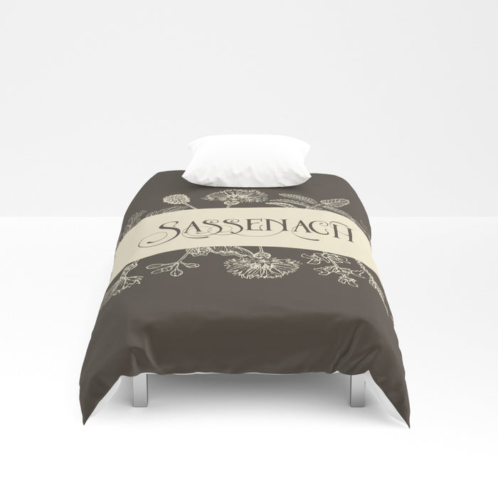 Sassenach in Sepia Duvet Cover