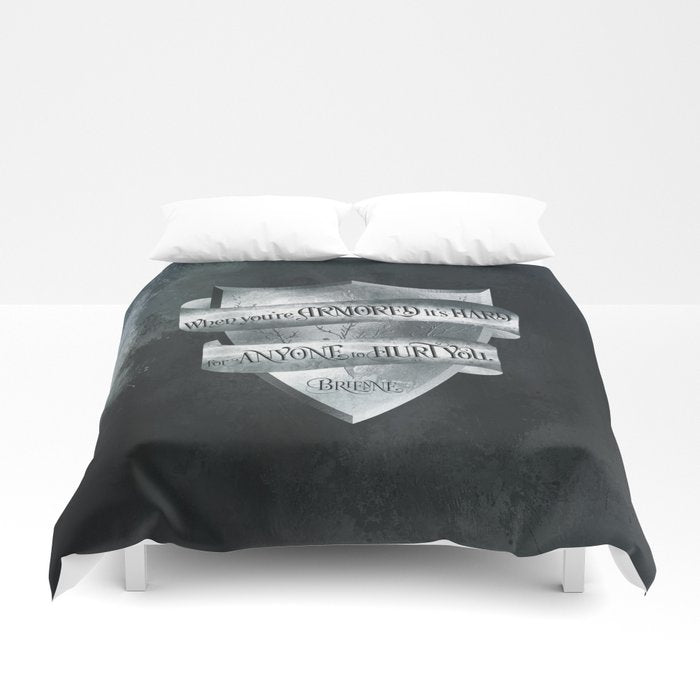When you're armored... A Game of Thrones (A Song of Ice and Fire) Quote Duvet Cover - LitLifeCo.