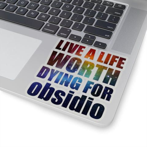 Live a life... Kady Grant Quote Sticker - LitLifeCo.