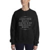 A CLEAN HOUSE IS A SIGN Unisex Sweatshirt - LitLifeCo.