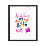 Adventure is out there. Up Quote Art Print - LitLifeCo.