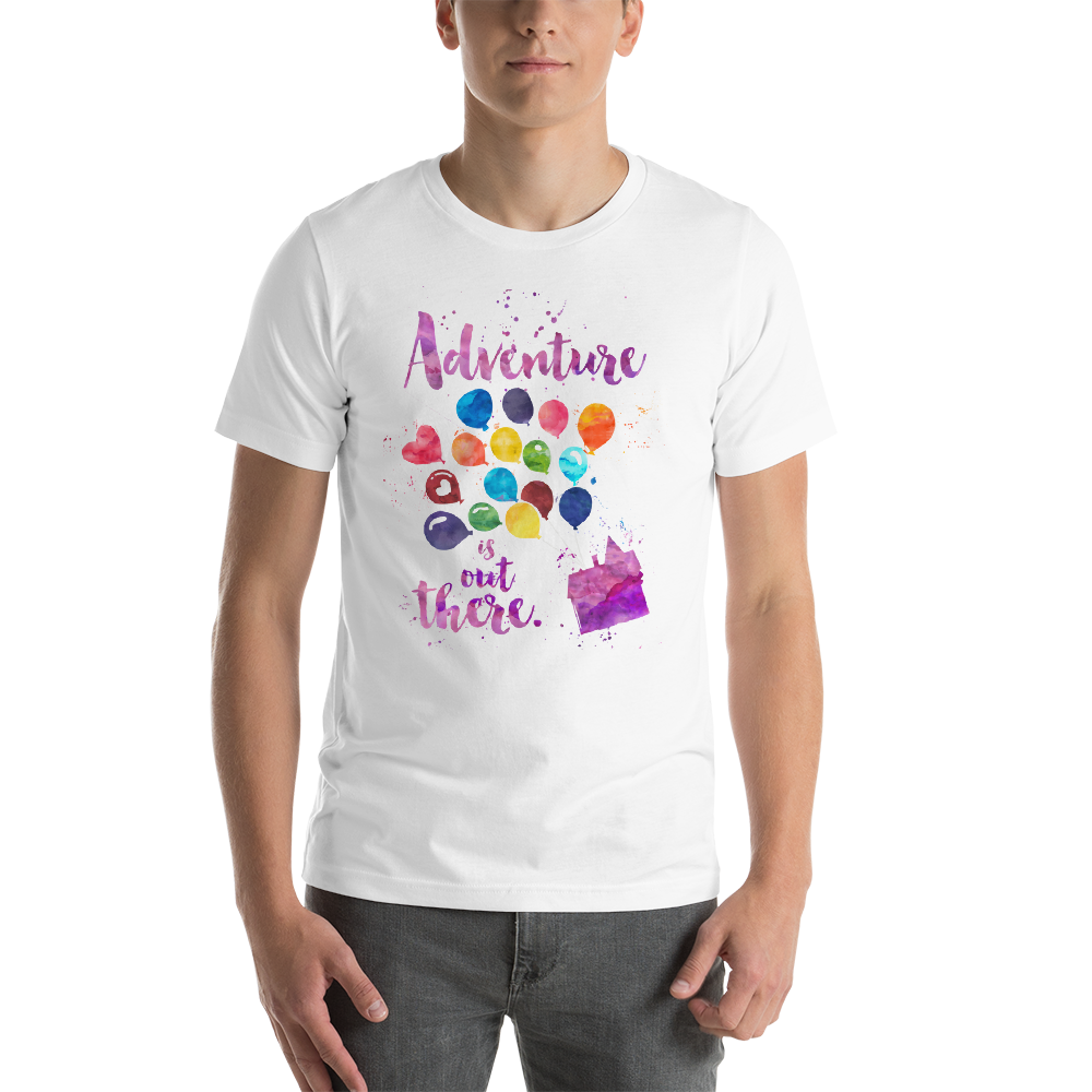Adventure is out there. Up Quote T-Shirt - LitLifeCo.