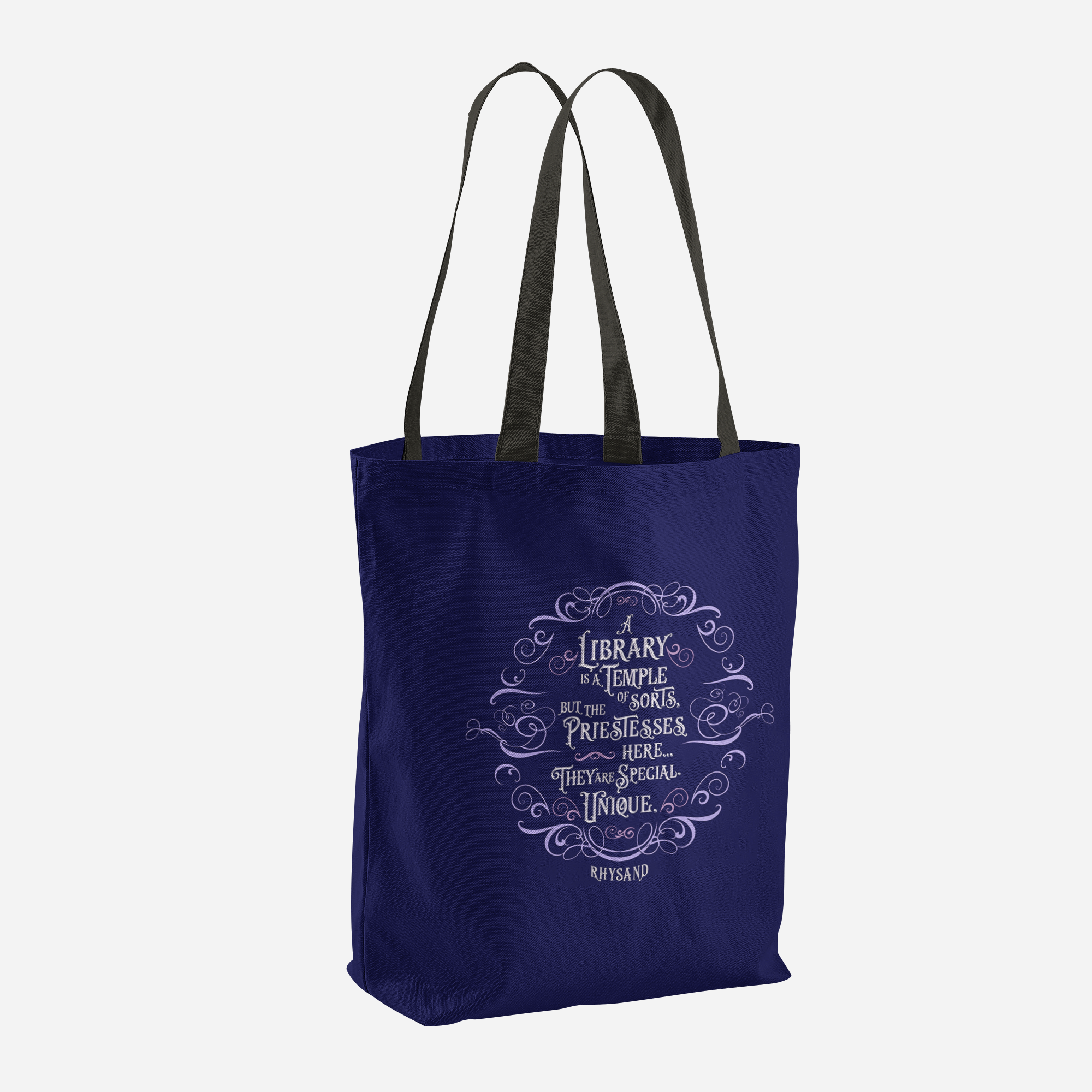 A library is a temple of sorts... Rhysand Quote Tote Bag - LitLifeCo.