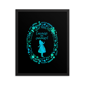Curiouser... Alice in Wonderland Quote Art Print - LitLifeCo.