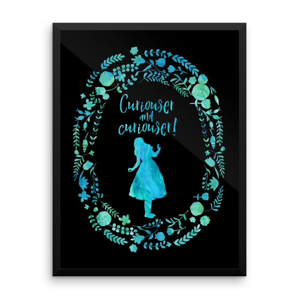 Curiouser... Alice in Wonderland Art Print - Literary Lifestyle Company