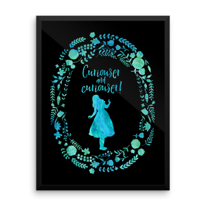Curiouser... Alice in Wonderland Art Print - LitLifeCo.