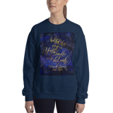 And that's how you go on... Strange the Dreamer Quote Unisex Sweatshirt - LitLifeCo.