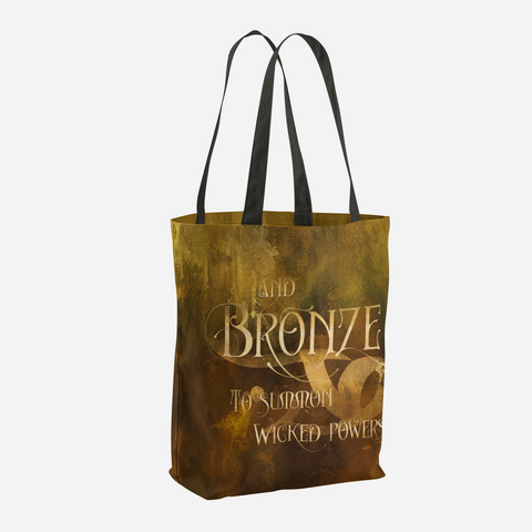 And BRONZE to summon wicked powers. Shadowhunter Children's Rhyme Quote Tote Bag