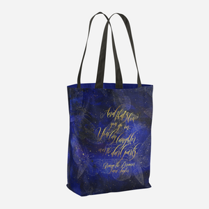 And that's how you go on. Strange the Dreamer Quote Tote Bag - LitLifeCo.