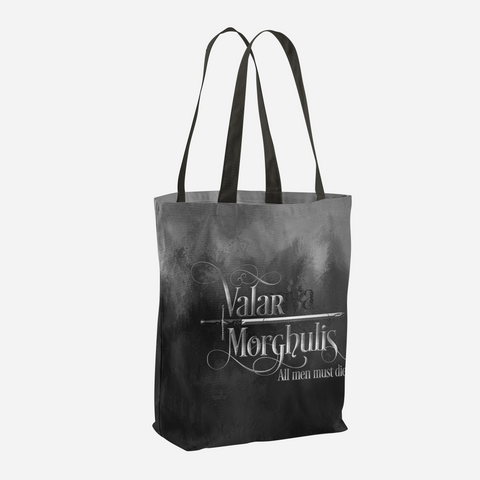 Valar morghulis. Game of Thrones (A Song of Ice and Fire) Quote Tote Bag - LitLifeCo.