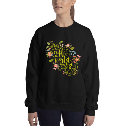As long as there was coffee... Clary Fray Quote Unisex Sweatshirt - LitLifeCo.