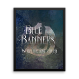 BLUE BANNERS when the lost return. - Shadowhunter Children's Rhyme Quote Art Print - LitLifeCo.