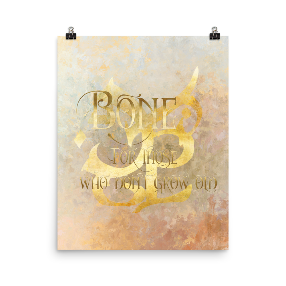 BONE for those who don't grow old. Shadowhunter Children's Rhyme Quote Art Print - LitLifeCo.