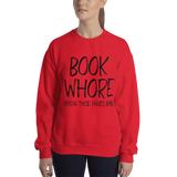 BOOK WHORE. Spread your pages, baby. Unisex Sweatshirt - LitLifeCo.