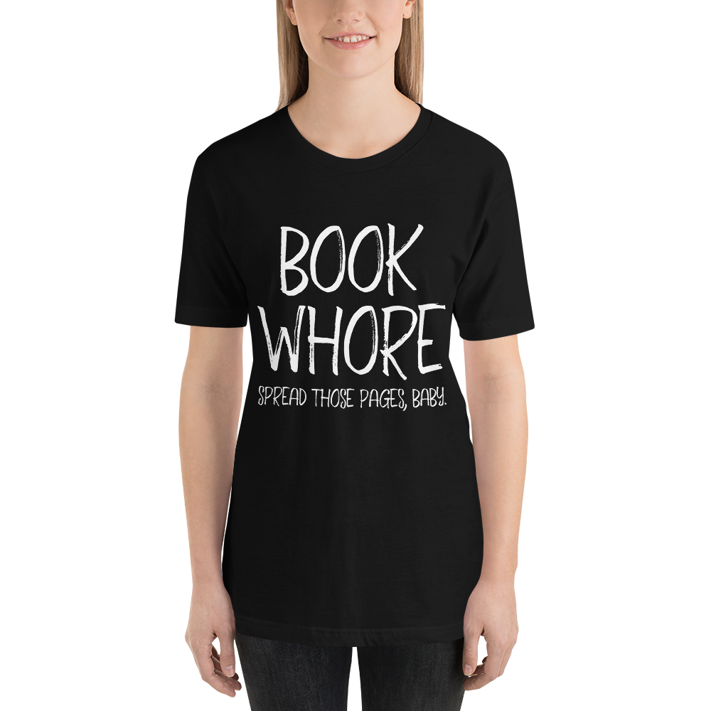 BOOK WHORE Unisex Short Sleeved Shirt - LitLifeCo.