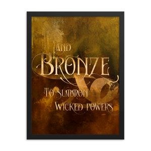 And BRONZE to summon wicked powers. Shadowhunter Children's Rhyme Quote Art Print - LitLifeCo.