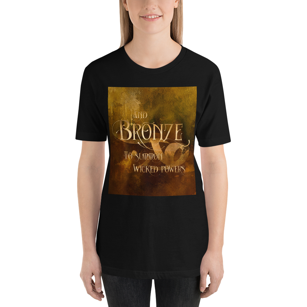 And BRONZE to summon wicked powers. Shadowhunter Children's Rhyme Quote Unisex Short Sleeved Shirt - LitLifeCo.