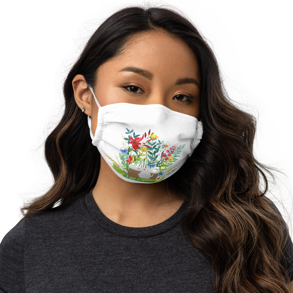 #bookstagram Floral Premium Face Mask