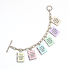Custom Book Locket Bracelet - Literary Lifestyle Company