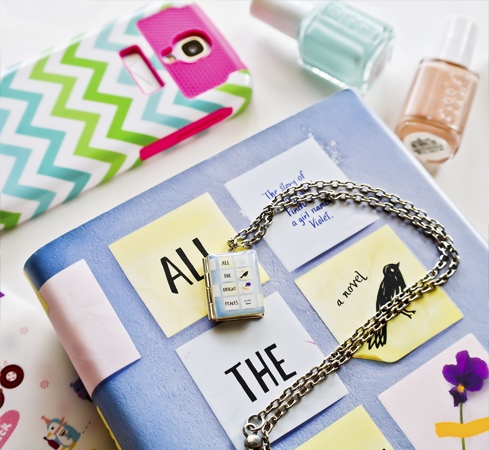 All The Bright Places Book Necklace - LitLifeCo.