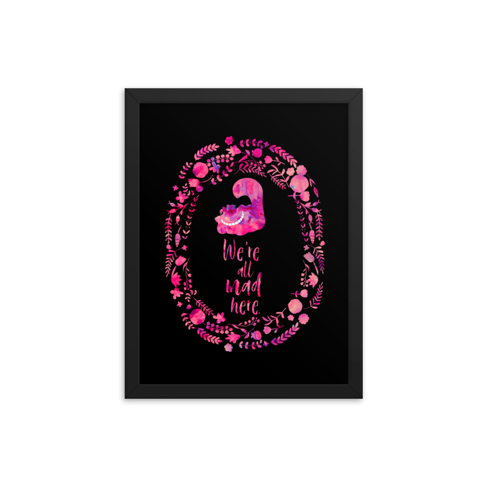 We're all mad here. Alice in Wonderland Art Print - Literary Lifestyle Company